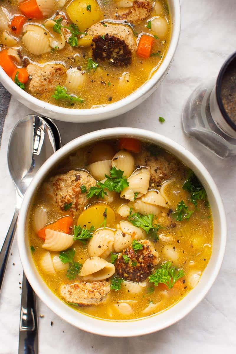 Turkey Meatball Soup recipe