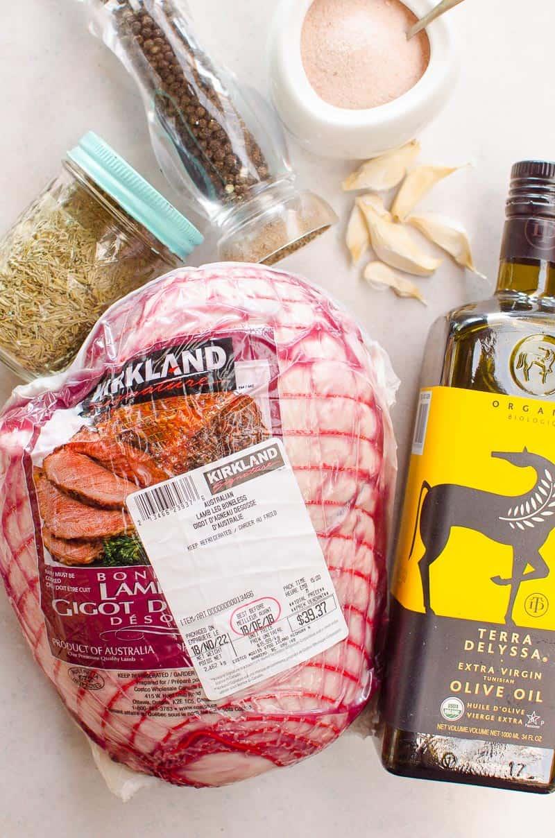 boneless lamb roast, olive il, garlic, rosemary, salt and pepper