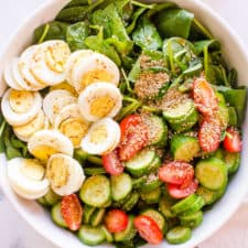 healthy spinach salad recipe