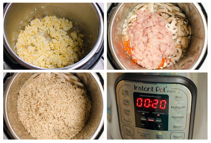 How to Make Fried Rice in Instant Pot step by step