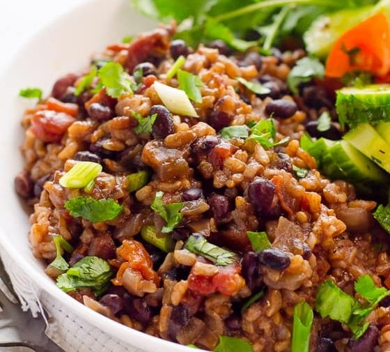 Instant Pot Rice and Beans (Video)