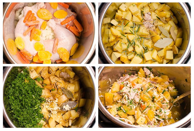 how to cook chicken and potatoes in instant pot