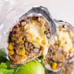 instant pot chicken burritos