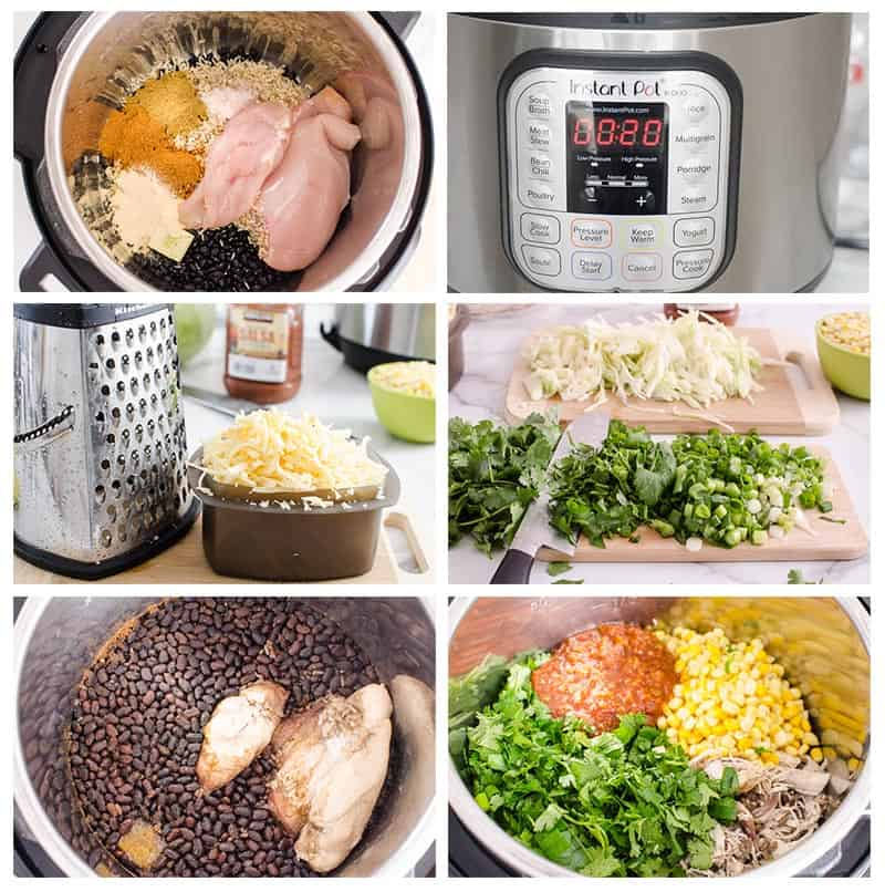 how to make instant pot chicken burritos step by step
