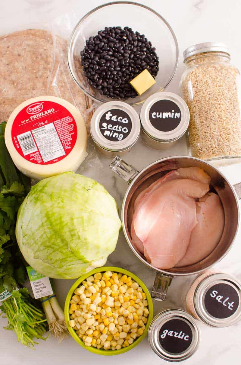 chicken burrito ingredients