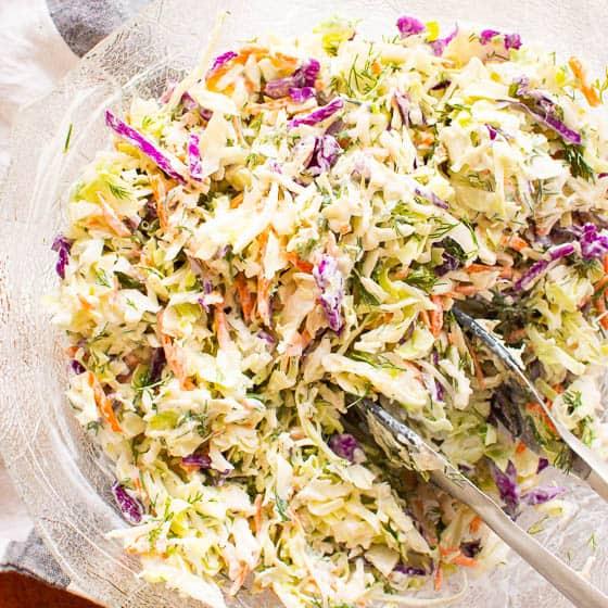 Healthy Coleslaw Recipe Ifoodreal Com