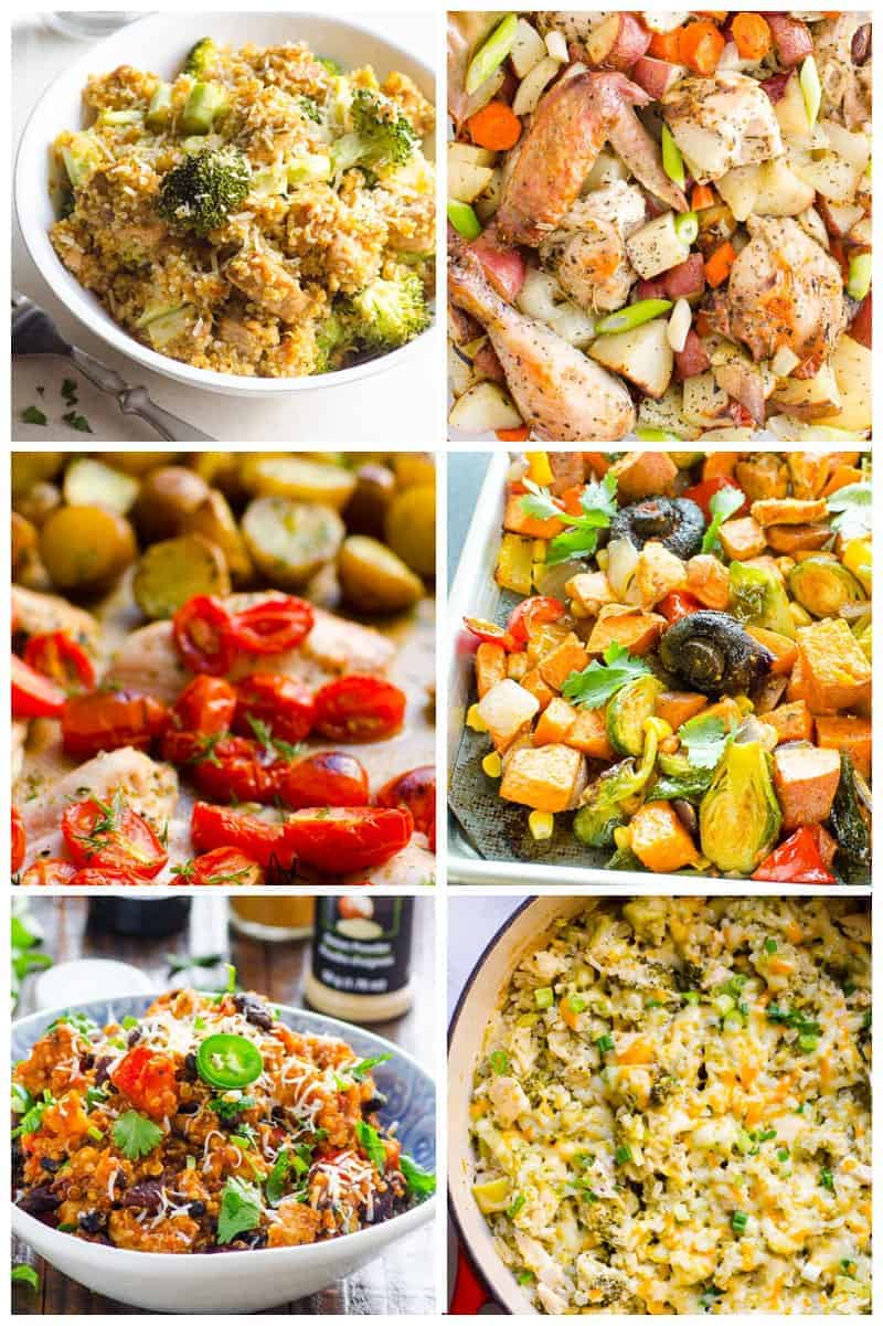 one pot and sheet pan healthy chicken dinner recipes