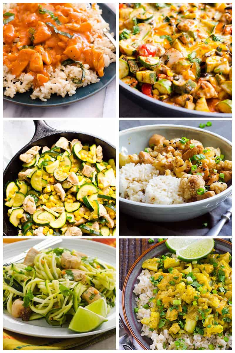 healthy chicken recipes cooked in a skillet
