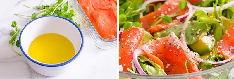 smoked salmon salad dressing