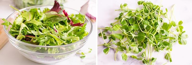 greens and microgreens