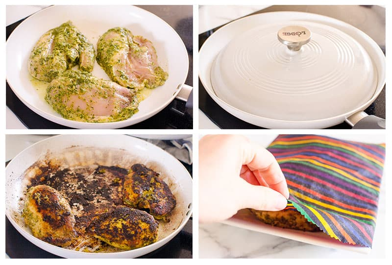 pan frying cilantro lime chicken