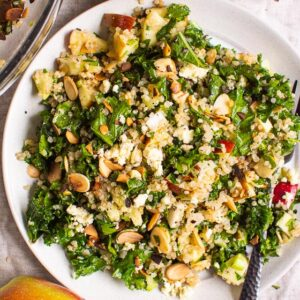 Kale and Quinoa Salad with Apples and Cinnamon Dressing