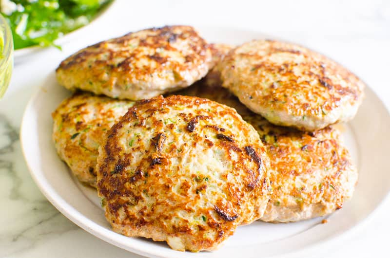 turkey burgers on a plate