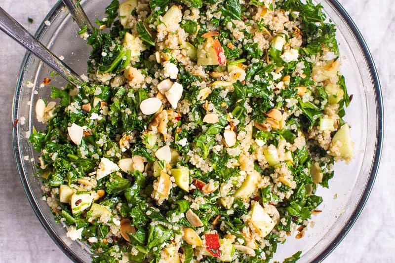 healthy salad kale and quinoa