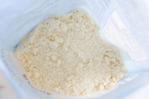 almond flour inside the bag