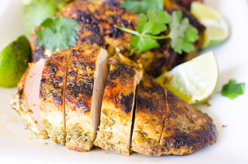 cilantro lime chicken sliced