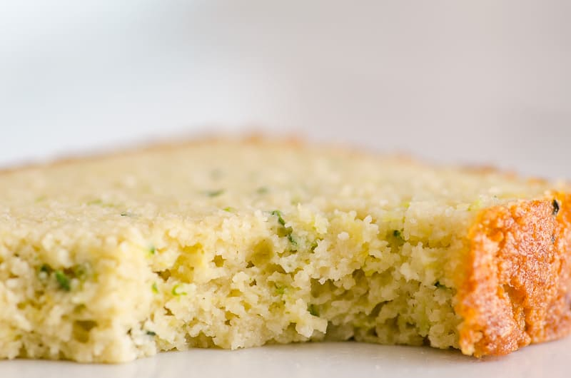 lemon zucchini bread slice bite and texture shown