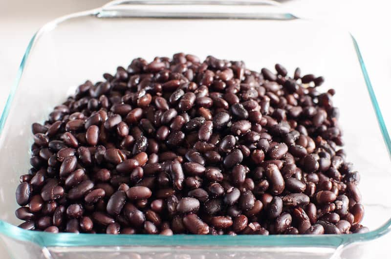 pressure cooker black beans in a dish