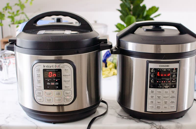 2 pressure cookers side by side