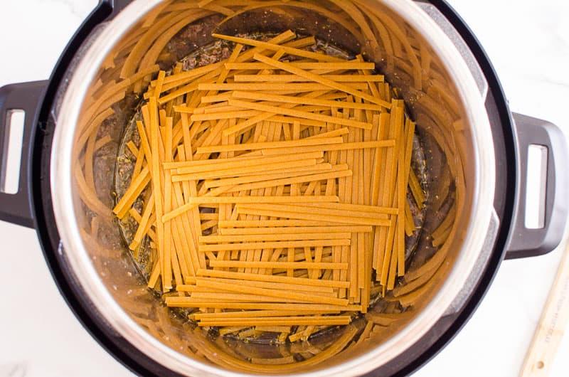 instant pot pasta for spaghetti