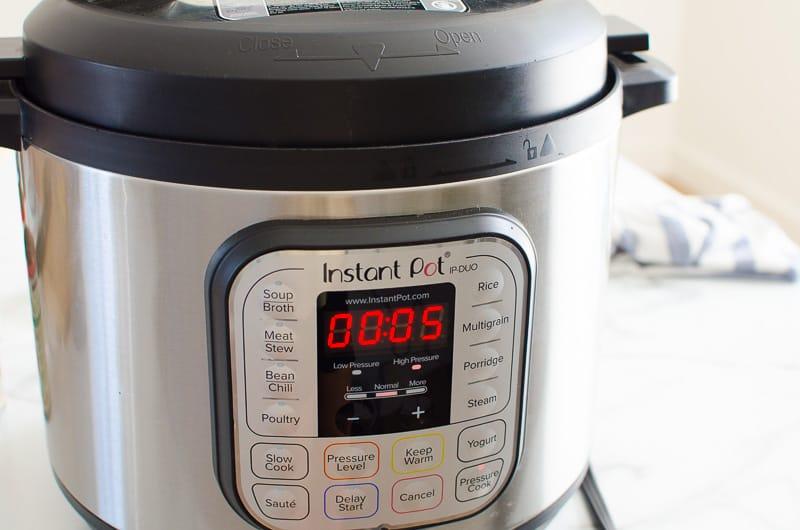 timer for instant pot spaghetti