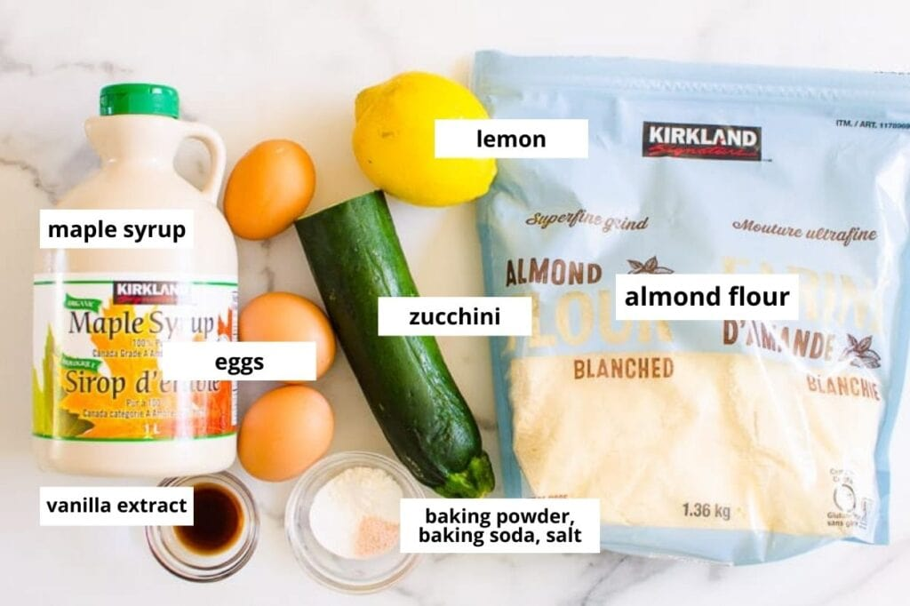lemon zucchini bread ingredients