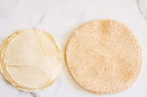 corn and whole wheat tortillas