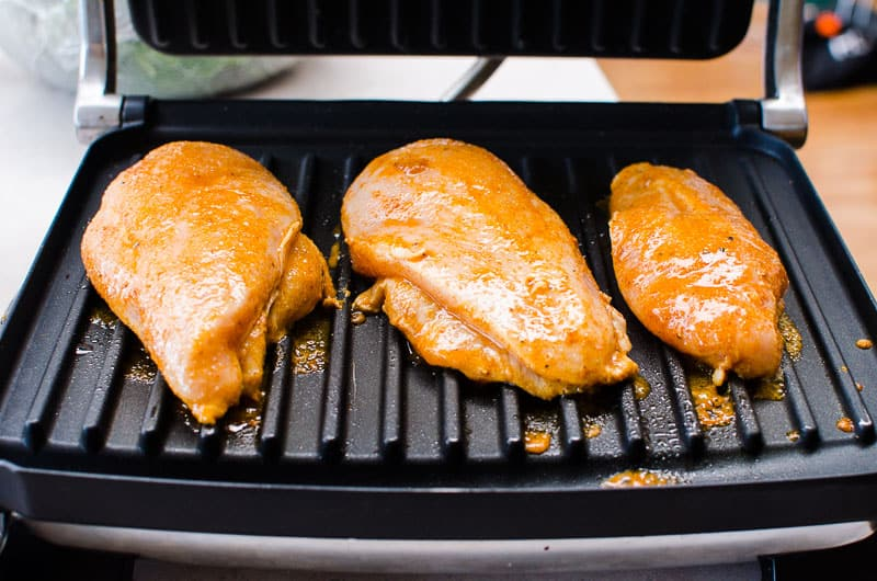 chili lime chicken on the grill