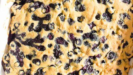 Healthy Blueberry Breakfast Cake