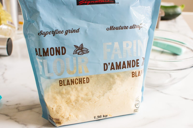 almond flour for healthy zucchini muffins