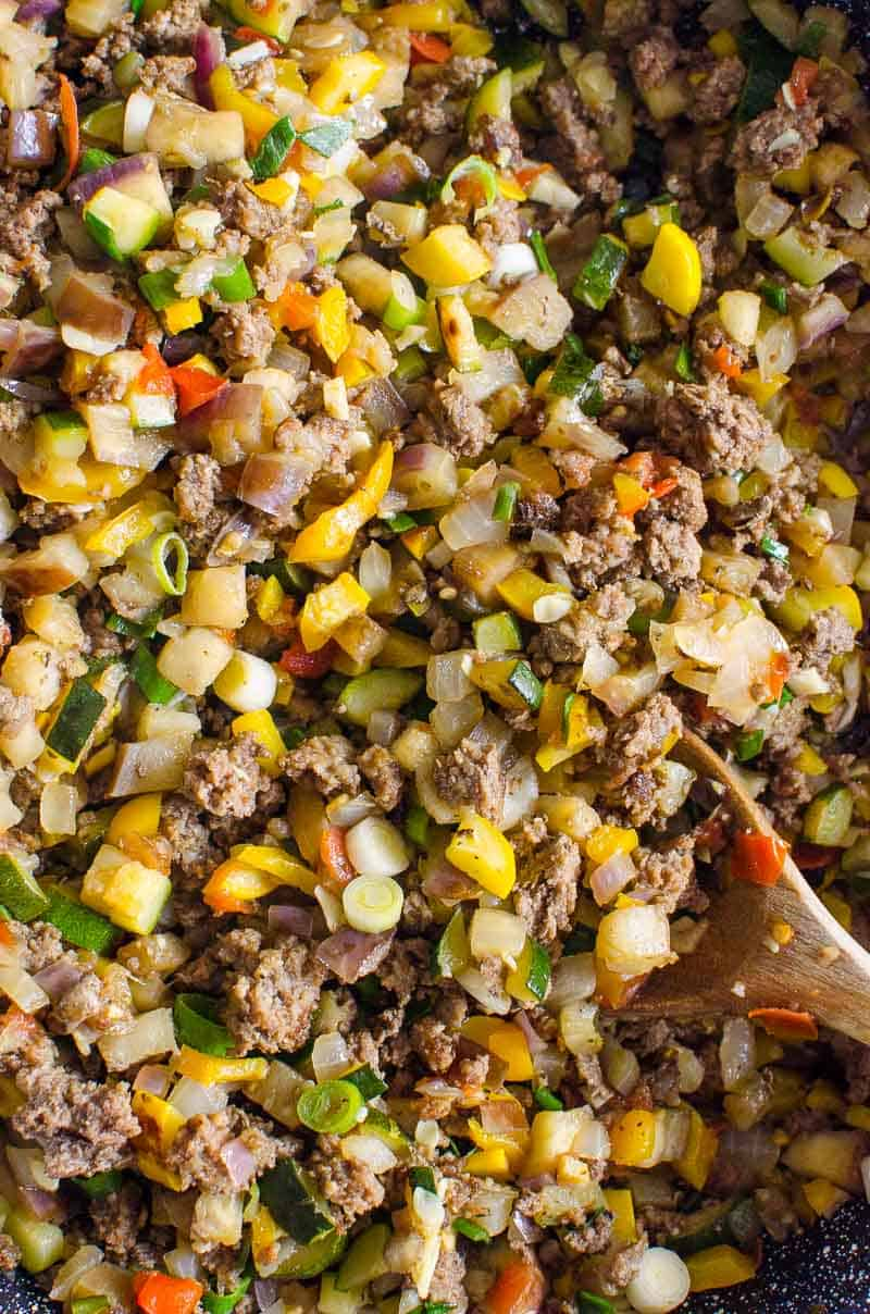 close-up Korean Ground Beef