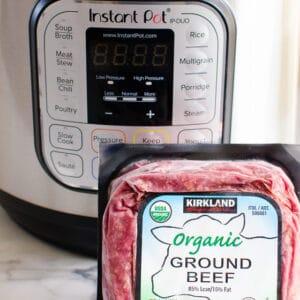 Instant Pot Frozen Ground Beef or Turkey