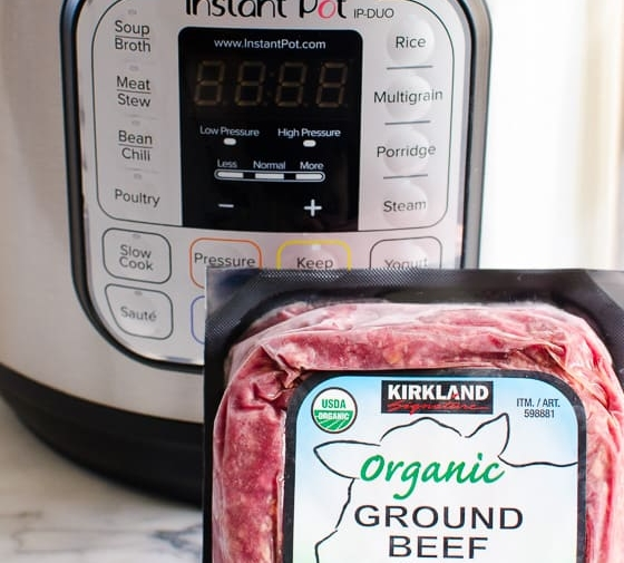 Instant Pot Frozen Ground Beef or Turkey