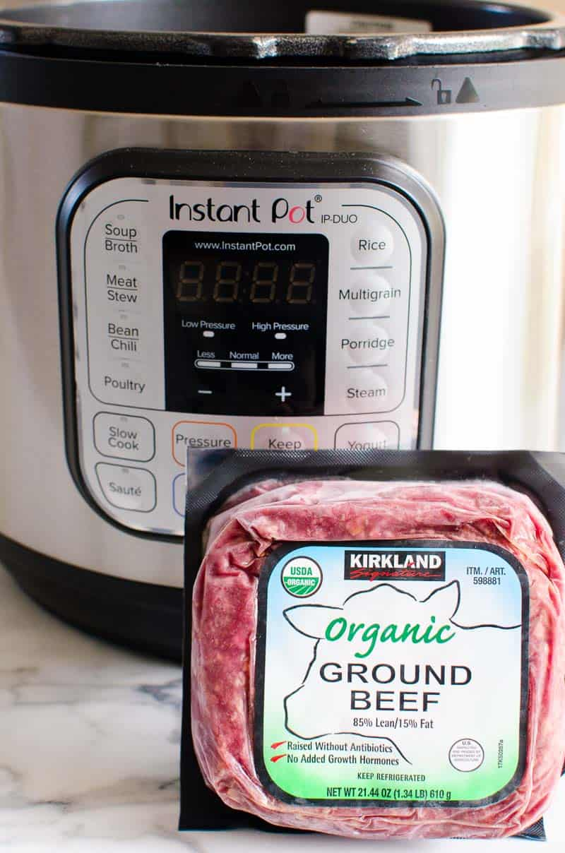 Instant Pot Frozen Ground Beef