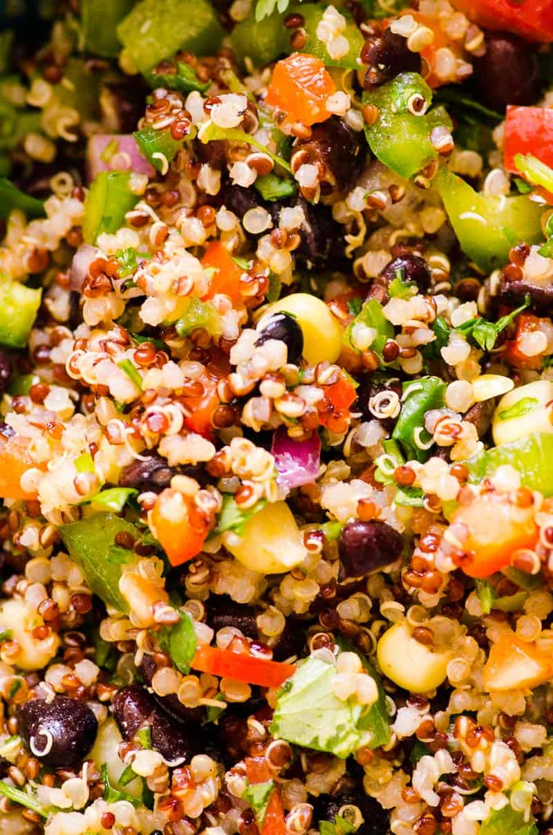 Southwest Quinoa Salad closeup