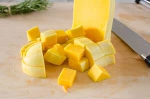calabaza butternut en cubos