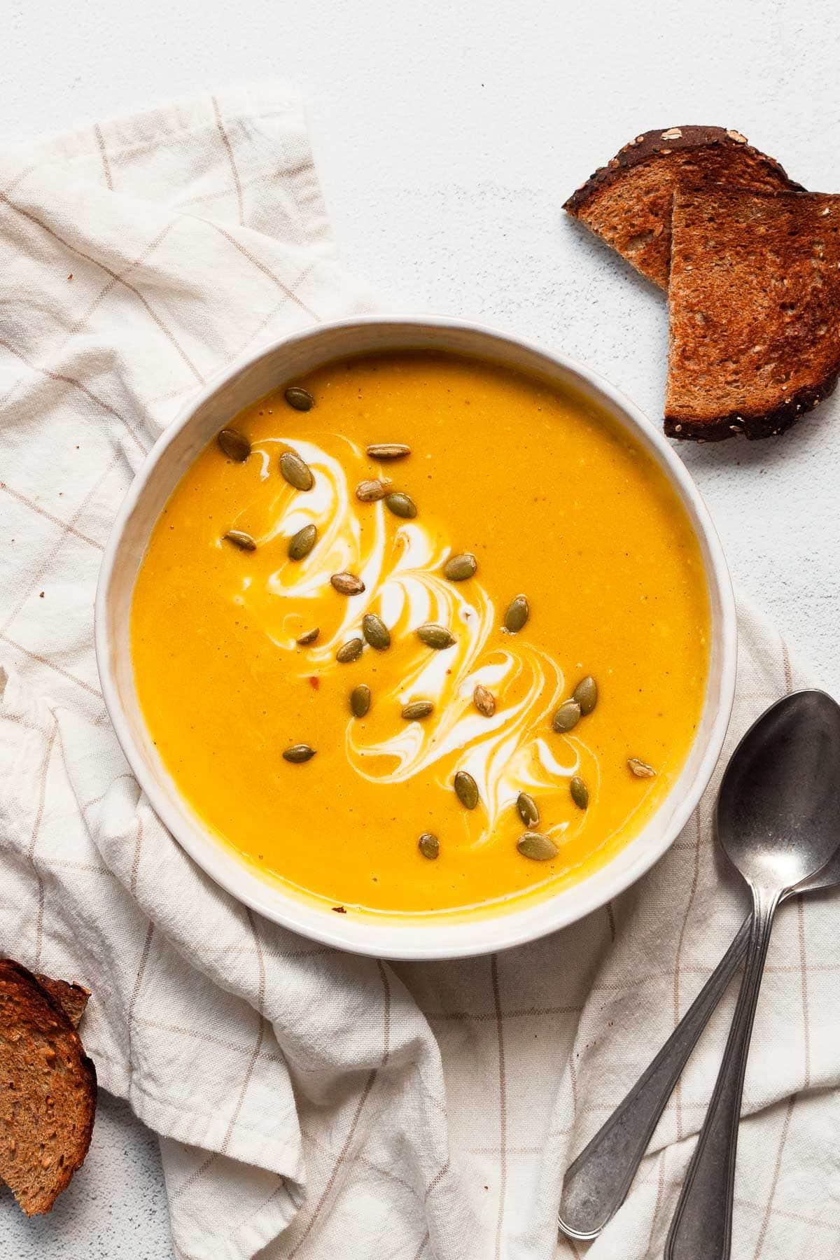 Receta saludable de sopa de calabaza
