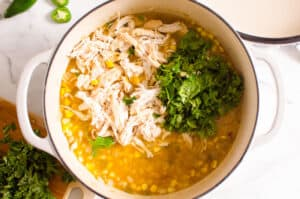 how to make Healthy White Chicken Chili step by step