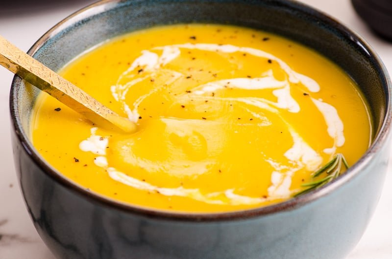 Instant Pot Butternut Squash Soup in a bowl