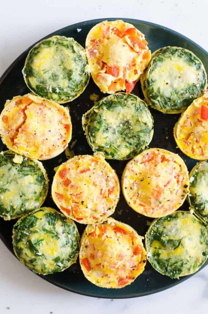 instant pot egg bites on plate