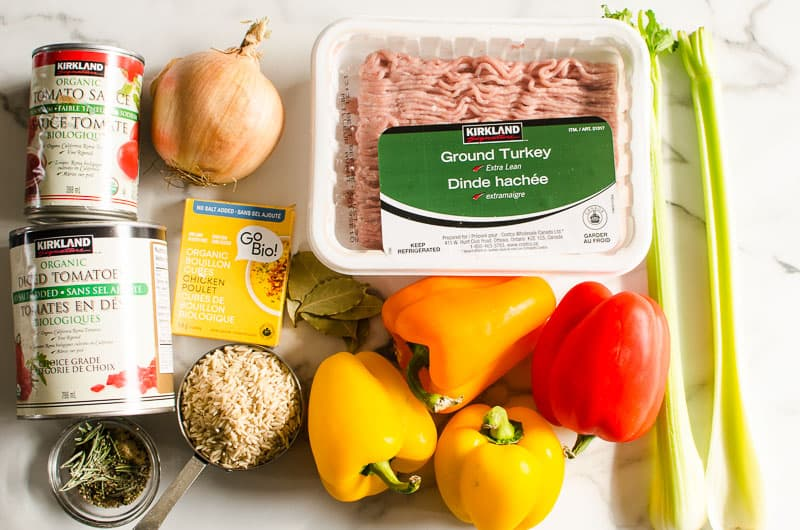 ingredients for Stuffed Pepper Soup