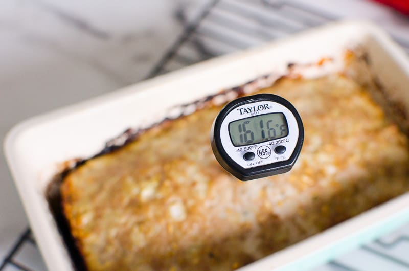 baked turkey meatloaf to internal temperature 160 degrees F