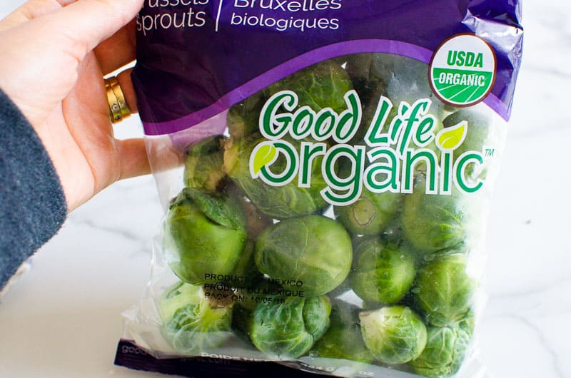 1 lb brussels sprouts in a bag