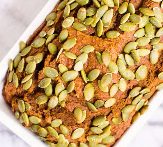 Healthy Pumpkin Bread (Video)