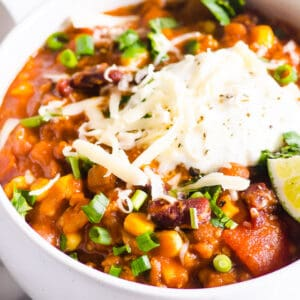 Instant Pot Turkey Chili (Video)