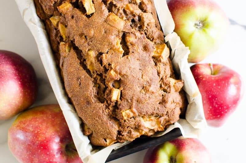 healthy apple bread with apples