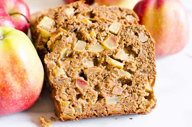 healthy apple bread slices