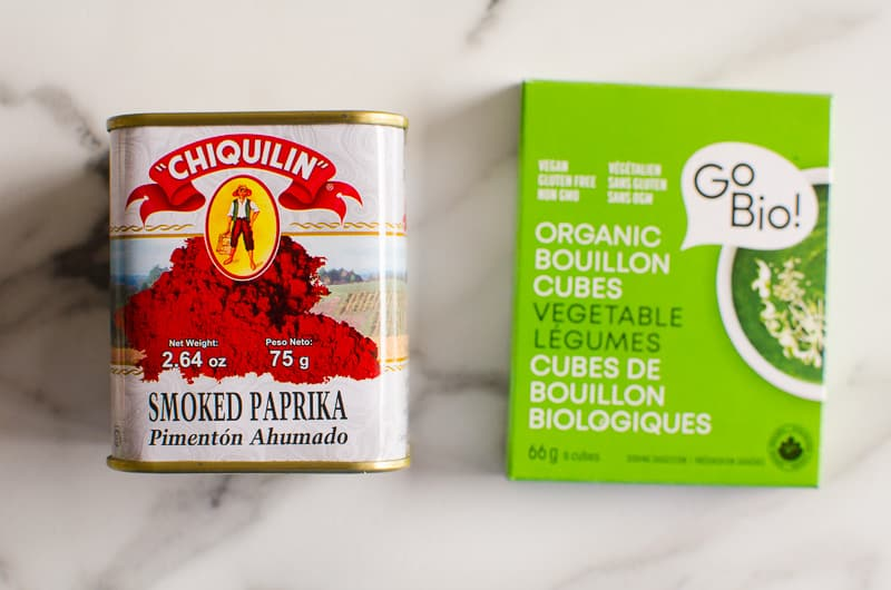 smoked paprika and vegetable bouillon cubes