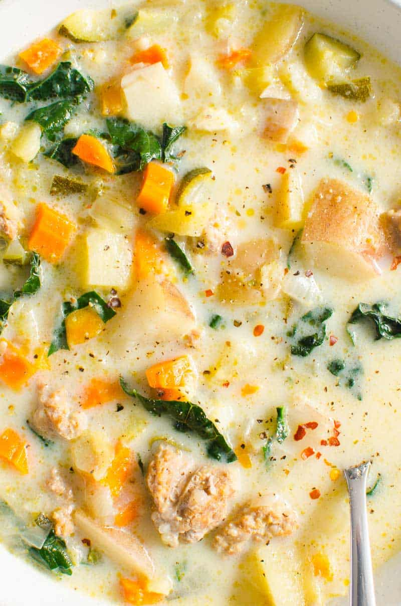 Instant Pot Zuppa Toscana closeup