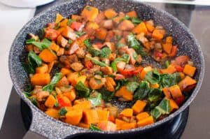 cooked Sweet Potato Hash